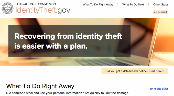 The FTC launched a new tool today that aims to make it easier for consumers to recover from identity theft.