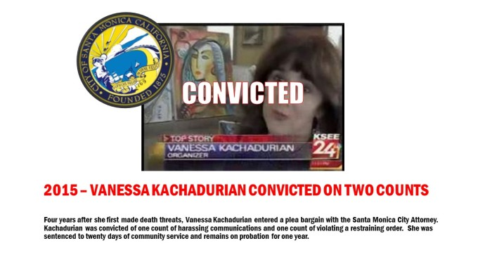Vanessa Kachadurian Convicted on Two Counts