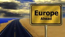 Road Sign: Europe Ahead
