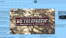 No Trespassin Sign