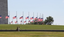 Flags on Lawn