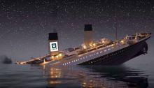 Ship with Uber Logo Sinking