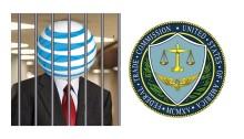 ATT Logo behind bars