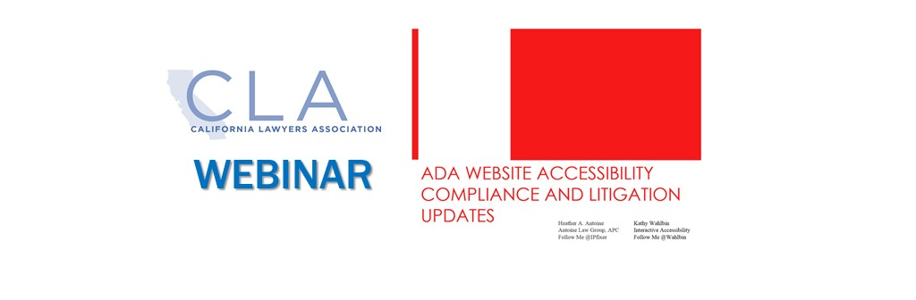 March 7th Webinar on Everything You Need to Know About ADA Website Accessibility Compliance and Litigation