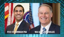 FCC Chairman Pai and Washington Governor Jay Inslee