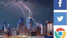 Lightning Striking NYC