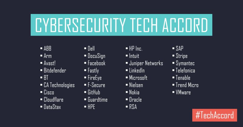 Microsoft Leads Cybersecurity Tech Accord
