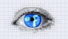 Eye with Facebook Logo