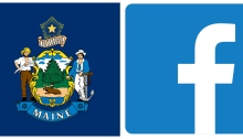 Maine Flag, FB Icon