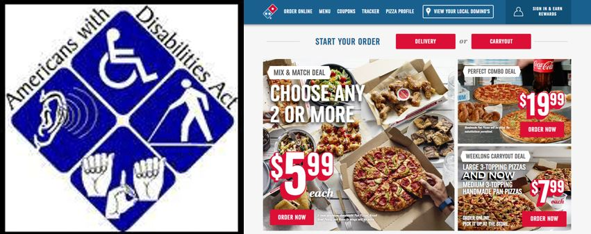9th Circuit: Dominos Pizza Websites Must Comply With ADA