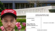 Mosaic of Dumpson Opinion, American University campus and Brian Ade