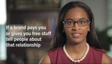 """FTC Instructions re """"If a brand pays you or gives you free stuff tell people about that relationship"""""""