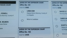 Ballot for Superior Court Judges