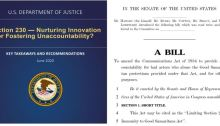 Cover Page of DOJ Report on Section 230 and S. 3983 The Limiting Section 230 Immunity to Good Samaritan Act