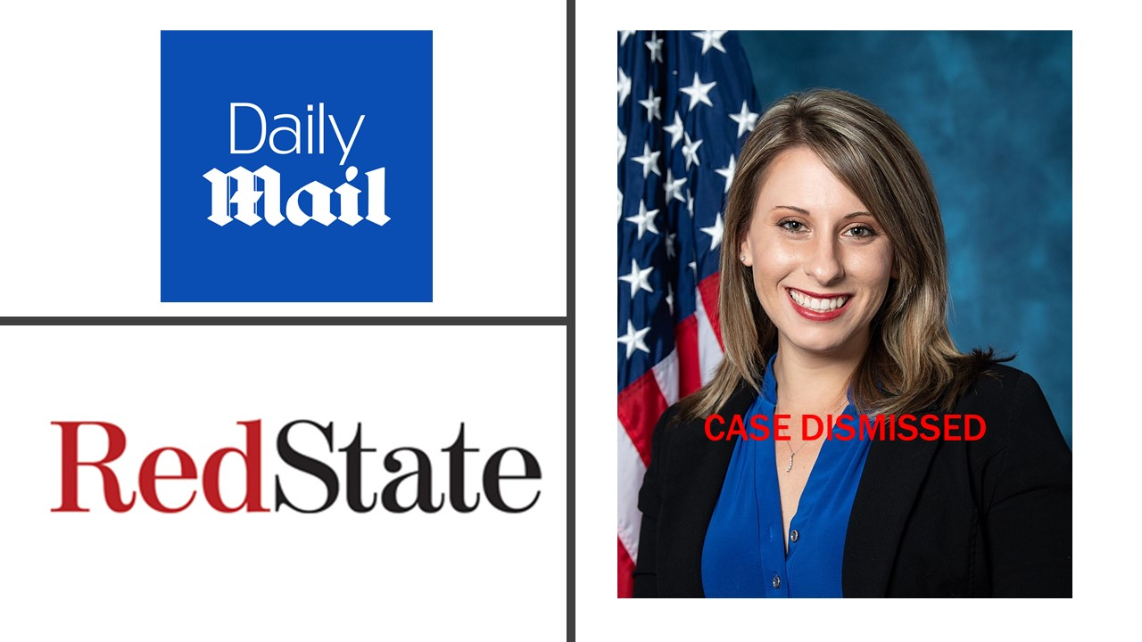 Former Congresswoman Katie Hill's Revenge Porn Complaint Against Daily Mail, RedState.com Dismissed Under California Anti-SLAPP Law